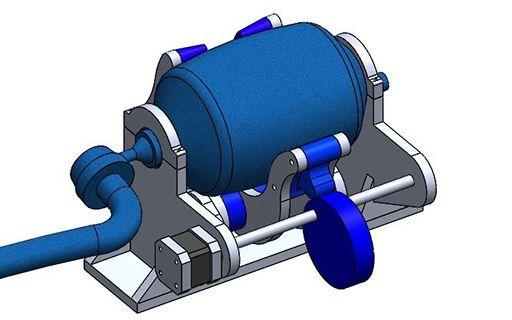 Prototipo de un respirador artificial.