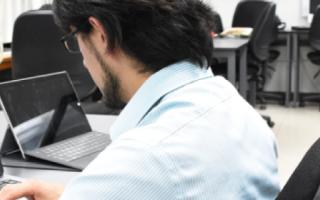 monitoreo de persona en computadora