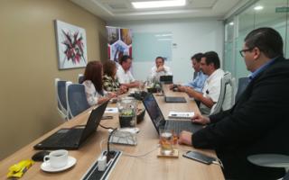 Investigadoras del TEC, durante su presentación en Cámara Costarricense de la Construcción.