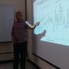 Dr. Javier M. Obando Ulloa durante la presentación de los resultados a productores Dos Pinos.