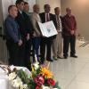 """Colaboradores del Doctorado en Ciencias Naturales para el Desarrollo (DOCINADE) después de recibir el premio Energy Globe Award 2019 por el proyecto """"Uso de energía solar para el proceso de secado de productos agrícolas""""."""
